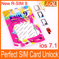 Wholesale R SIM pro RSIM9 R SIM9 Pro Perfect SIM Card AUTO Unlock Official IOS ios RSIM for iphone S G S C GSM CDMA WCDMA G G