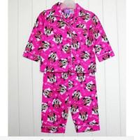Girl Spring/Autumn 1 2 3 4 5 Direct line free shipping children's pajamas baby girls 1T 2T minnie mouse long sleeve flannel winter pyjamas sleepwear homewear Pjs
