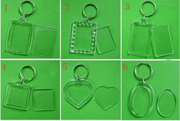 2014 liberan los accesorios de acrílico en blanco del cuadrado del rectángulo de los keyrings de la foto de la inserción de los keychains 50pcs del acrílico en blanco de la foto