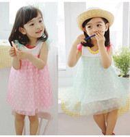Wholesale New arrival girls dresses kids summer dress Korea style girl dress Princess girl dress chiffon dress children s dress