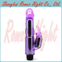 Wholesale BAILE Rabbit Multi Speed G spot Stimulating Waterproof Super Strong Vibrators Women Sexy Body Massager Toys Audlt Products