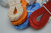 Mirco 5 pin   100pc lot Mirco 5 pin V8 Fabric Nylon 1m flat Braided colorful 1m Sync USB Cable for Samsung HTC Blackberry NOKIA LG sony free ship by DHL