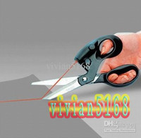 Wholesale Laser Scissors Stainless Steel Laser Positioning Line Scissors for Cutting Fabrics Paper hot B66