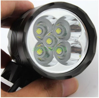 Wholesale New x Cree XM L T6 T6 Lumens In LED Modes Bike Light Bicycle Front Lamp Headlight Headlamp V Battery Pack