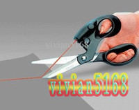 Wholesale Laser Scissors Stainless Steel Laser Positioning Line Scissors for Cutting Fabrics Paper