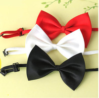Wholesale Dog Neck Tie Dog Bow Tie Cat Tie Supplies Pet Headdress adjustable bow tie