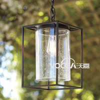 240V LED Vocca / Wojia Wojia ] [ vintage American country industrial corridor LOFT loft courtyard garden square chandelier single head