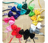 Wholesale Dog Neck Tie Dog Bow Tie Cat Tie Supplies Pet Headdress adjustable bow tie color mix
