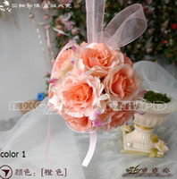 cane bamboo - The Simulation Flower Decoration Flower Wreath Of Rattan Cane Dream Bamboo Rose Red Hand Ball lt lt color