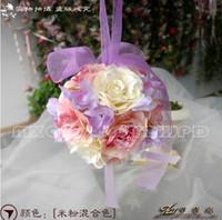 Wholesale The Simulation Flower Decoration Flower Wreath Of Rattan Cane Dream Bamboo Rose Red Hand Ball lt ghjj lt lt color