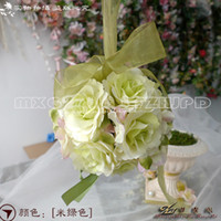 Wholesale The Simulation Flower Decoration Flower Wreath Of Rattan Cane Dream Bamboo Rose Red Hand Ball lt drdydr lt lt color