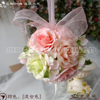 Wholesale The Simulation Flower Decoration Flower Wreath Of Rattan Cane Dream Bamboo Rose Red Hand Ball lt iylh lt lt color