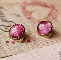 Clip-on & Screw Back american universe - Fancy Universe Sky Clip Earrings Without Puncture Personalized Earrings for Children Vintage Jewelry rj10