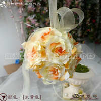 Wholesale The Simulation Flower Decoration Flower Wreath Of Rattan Cane Dream Bamboo Rose Red Hand Ball lt fdsgs lt lt color