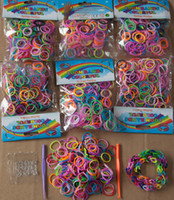 Wholesale Colorful Rainbow Loom kit Rubber band loom Bands bracelet amazing gift for children Mixed colors handmade DIY New amp Hot Fedex Free