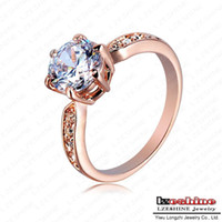 Wholesale Kate Princess Wedding Rings Platinum Plated Clear Zircon Womens Fashion Jewellery Ring ITL RI0020 b