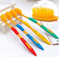 Adults   Free Shipping Korea Nano Bamboo Anion Charcoal Health Dual Adult Toothbrush Nano Dental Care toothbrush