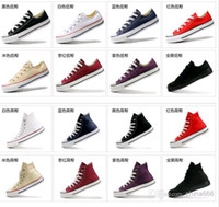 Lace-Up Unisex Spring and Fall Drop Shipping size35-45 New Unisex Low-Top & High-Top Adult Women's Men's Canvas Shoes 13 colors Laced Up Casual Shoes Sneaker shoes shoe