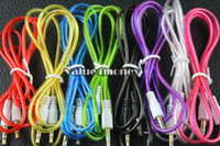 Wholesale 800PCS M mm Jack Stereo AUX Car Audio Cable Male to Male for iPhone S iPod Samsung HTC MP3 Tablet PC Headphone Speaker DHL