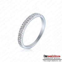 Wholesale Wedding Ring Genuine SWA Element Engagement Rings Real Platinum Plated Austrian Crystal Promise Rings For Women ITL RI0110