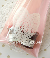 Wholesale cm cm Pink Lace plastic bread bags Snack Food Packaging Bag bakery bags