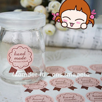 Wholesale PINK Color Cute Medal Sticker for Handmade Products Hand Made sticker Beige