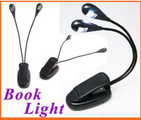 Wholesale Only Supply of cheap LED Reading Lamp Clip on Dual Arms LED Flexible Book Music Stand Light Reading light H