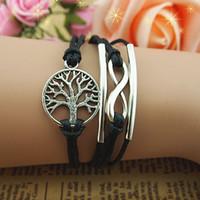 alloy braclet - Infinity bracelet infinite bracelet wish tree braclet love bracelet wish bracelet tree of life girlfriend gift