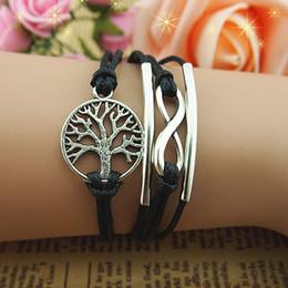 Wholesale Infinity bracelet infinite bracelet wish tree braclet love bracelet wish bracelet tree of life girlfriend gift