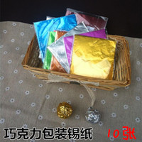 Wholesale DIY chocolate chocolate wrapping foil gold red green white blue and silver color options cm