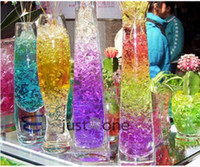 alternative water - 2016 New packs g pack Crystal Soil Water Beads for Flowers and Plants Food colorful soil alternative Plant Gel Beads original