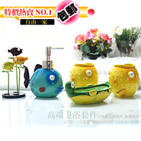 other   Five pieces set of bathroom marine resin wash set cartoon bathroom items fashion