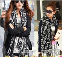 Wholesale New Fashion Accessories skull Scarves Muffler spring Autumn shawl scarf for women length cm width cm SH07