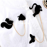 Wholesale Min order Mixed order Popular Exquisite Vintage Cat Butterfly Bird Love Squirrel Alloy Chain Knot Pin Brooch