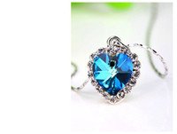 Pendant Necklaces heart of the ocean - Titanic Star Ocean Necklaces Pendants Fashion Jewelry Rhinestone Blue Heart of the Ocean