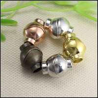 Wholesale 50PCS Strong Round Ball Magnetic Clasps End Caps with Inner hole mm for making Bracelet Necklace jewelry findings