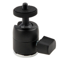Wholesale Aluminum Alloy Hot Shoe Tripod Heads Allows any angle adjustment with ball head Male Screw