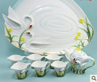 china tea sets - Swan Bone China Tea Set