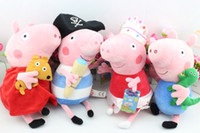Unisex 3-4 Years Anime & Comics Free shipping Peppa Pig And George Pig Ballerina Pirate Plush Toy Doll 30cm 4 styles hot sale
