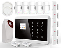 Wholesale Wireless Home Alarm system Touch keypad TFT Color Display GSM PSTN Home Security Alarm System Kits Siren for Smart iOS Android App SG