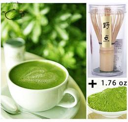 Wholesale Set AA China Pure Organic Natural Matcha Green Tea Powder g oz lb Bag Vacuum Sealed Bamboo Chasen Whisk A Set Pack
