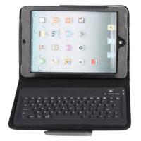 Wholesale Detachable Bluetooth Keyboard with PU Leather Case for iPad Mini Black