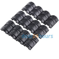 Wholesale 12PCs Tactical Weaver Picatinny Rubber Handguard Quad Rail Covers Black New