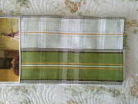 Wholesale Table runner cotton colorful rectangle table cloth grid table flag cm g no enroidery soft white green mostly or place on leg