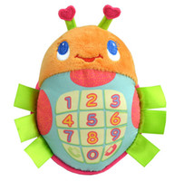Wholesale Infant Numbers Realization Lovely Beetle Peach Heart Ears Children Child s Stuff Plushed Toys Music Figure Phone Number ButtonToys F0149