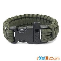 Wholesale Outdoor Survival Bracelet Parachute Cord Emergency Paracord Camping Bracelet with Whistle Buckle Top Quality DHL