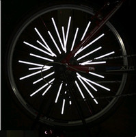 Wholesale High Quality Bicycle Spoke Reflective Stripe amp Bike Spokes Reflector Light Steel Wire Lamp Warning Tape freeshipping