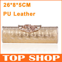 Wholesale Party Bags Leather Shiny Pink Diamond Long Sequins Boutique Elegant Free Shiping Lady Evening Bags XB0022