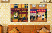 Wholesale Coffee Shop Decoration Modern Mural Jane European American Retro Restaurant Adornment Bars Hang A Picture To The Bakery