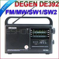 Wholesale DEGEN DE392 FM TV MW SW Crank Dynamo Solar Emergency Radio World Receiver A0799A